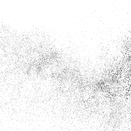GRAINY: Black grainy texture isolated on white background.