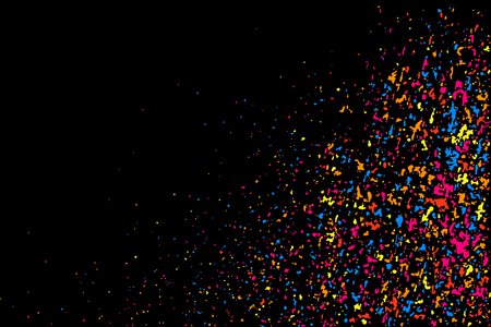 GRAINY: Grainy abstract colorful texture isolated on black background.