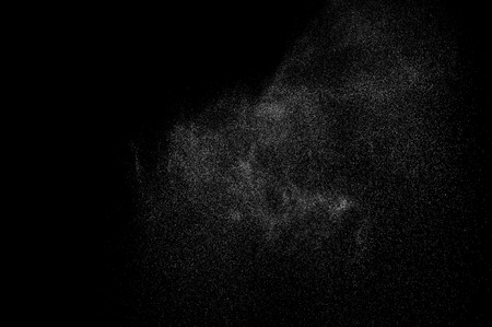 abstract splashes of water on a black background. Stock Photo