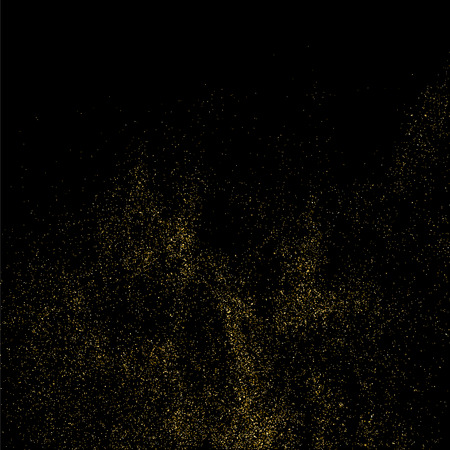 celebratory: Gold glitter texture isolated on black. Celebratory background. Golden explosion of confetti. Vector illustration,eps 10.