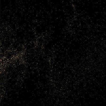 strass: Gold glitter texture isolated on black. Celebratory background. Golden explosion of confetti. Vector illustration,eps 10.
