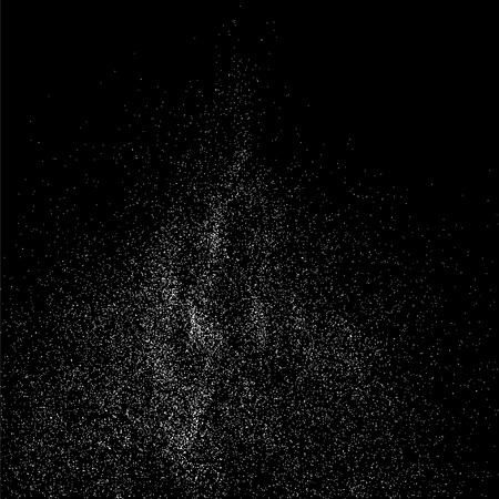 Grainy abstract  texture on  black background. Snow texture. Snowflakes  design element. Vector illustration Illustration