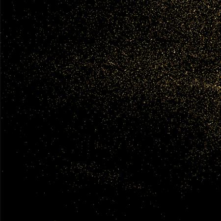 celebratory: Gold glitter texture isolated on black. Celebratory background. Golden explosion of confetti. Vector illustration Illustration