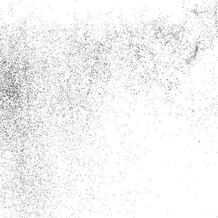 Black grainy texture isolated on white background. Grunge design elements. Vector illustration Vector Illustration