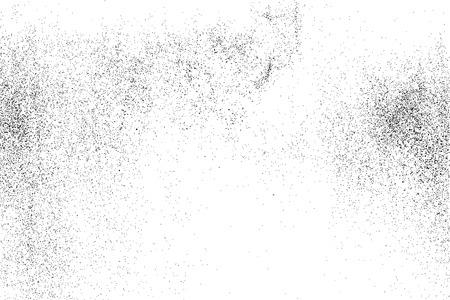 Texture granuleuse noire isolée sur fond blanc. Éléments de design grunge. Illustration vectorielle