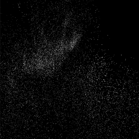 GRAINY: Grainy abstract  texture on  black background.  Snowflakes  design element. Vector illustration