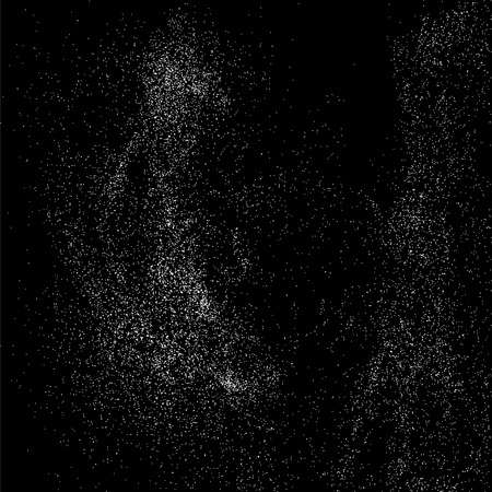 grit: Grainy abstract  texture on  black background.  Snowflakes  design element. Vector illustration,eps 10.