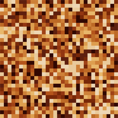 crumb: Coffee color mosaic texture. Chocolate shades. Brown particles. Vector illustration Illustration