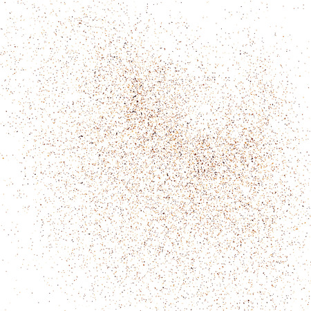 Coffee color grain texture  isolated on white background. Chocolate shades. Brown particles. Vector illustration