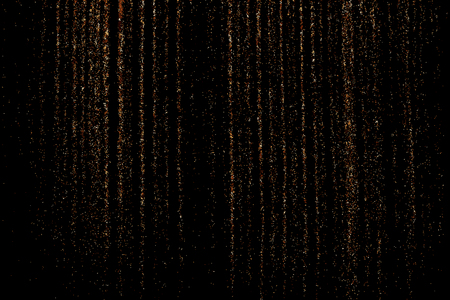 Coffee color grain texture  isolated on black background. Chocolate shades. Brown particles. Vector illustration Illustration