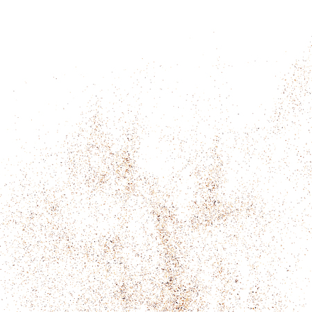 crumb: Coffee color grain texture  isolated on white background. Chocolate shades. Brown particles. Vector illustration