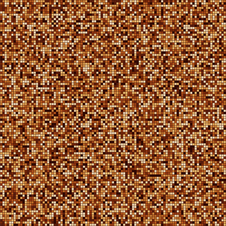 Coffee color mosaic texture. Chocolate shades. Brown particles. Vector illustration Illustration