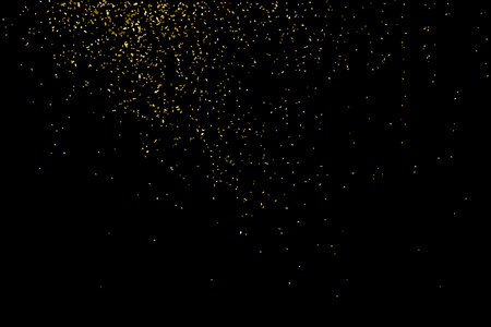 Gold glitter texture isolated on black. Celebratory background. Golden explosion of confetti. Vector illustration,eps 10.