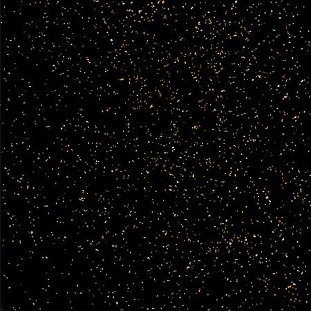 celebratory: Gold glitter texture isolated on black. Celebratory background. Golden explosion of confetti. Vector illustration. Illustration