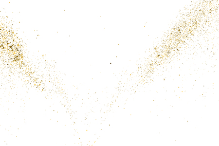 the substrate: Gold glitter texture isolated on white. Golden color of winners. Aureate abstract particles on ofay substrate. Explosion of confetti shine. Celebratory background. Vector illustration,eps 10.