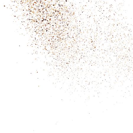 Texture de grain de café couleur isolée sur fond blanc. Nuances de chocolat. Particules brunes.