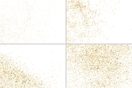 strass: Gold glitter texture isolated on white. Golden color of winners. Gilded abstract particles. Explosion of confetti shine. Set design element. Celebratory background. Illustration
