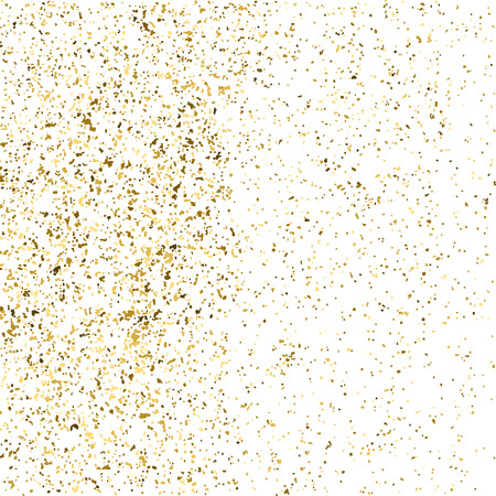 gilded: Gold glitter texture isolated on white. Golden color of winners. Gilded abstract particles. Explosion of confetti shine. Celebratory background. Illustration