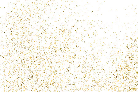aureate: Gold glitter texture isolated on white. Golden color of winners. Aureate abstract particles on ofay substrate. Explosion of confetti shine. Celebratory background.