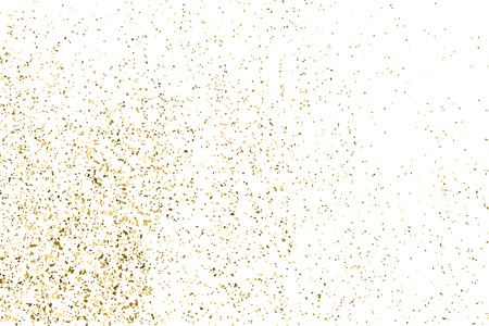 the substrate: Gold glitter texture isolated on white. Golden color of winners. Aureate abstract particles on ofay substrate. Explosion of confetti shine. Celebratory background.