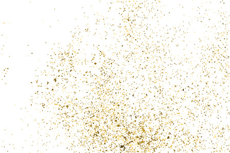 strass: Gold glitter texture isolated on white. Golden color of winners. Gilded abstract particles. Explosion of confetti shine. Celebratory background. Illustration