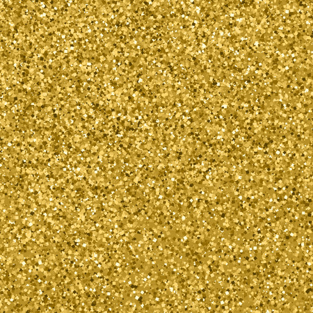 Gold glitter texture. Glittering tinsel. Gilded abstract particles. Explosion of confetti shine. Celebratory background. Vector illustration. Illustration