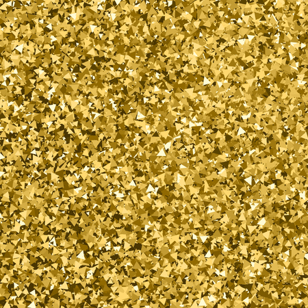 gilded: Gold glitter texture. Glittering tinsel. Gilded abstract particles. Explosion of confetti shine. Celebratory background. Vector illustration. Illustration