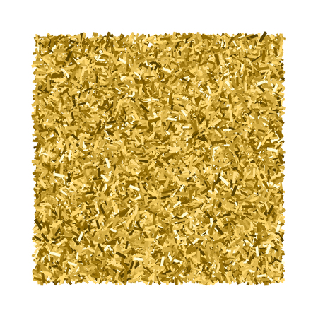 gilded: Gold glitter texture. Glittering tinsel. Gilded abstract particles. Explosion of confetti shine. Celebratory background. Illustration