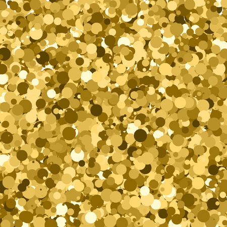 Gold glitter texture. Glittering tinsel. Gilded abstract particles. Explosion of confetti shine. Celebratory background.