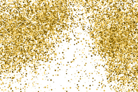 strass: Gold glitter texture isolated on white. Celebratory background. Golden explosion of confetti.