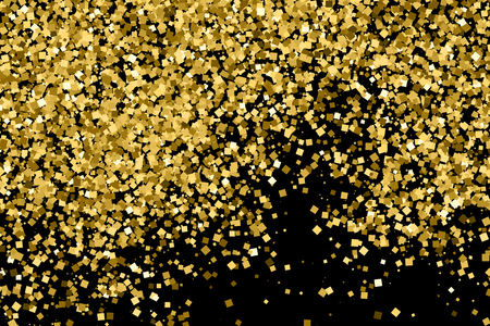 strass: Gold glitter texture isolated on black. Celebratory background. Golden explosion of confetti.