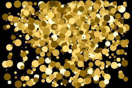 strass: Gold glitter texture isolated on black. Amber particles color. Celebratory background. Golden explosion of confetti.