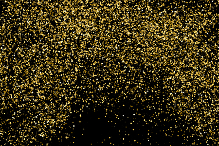 strass: Gold glitter texture isolated on black. Amber particles color. Celebratory background. Golden explosion of confetti. Vector illustration,eps 10.