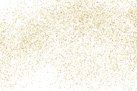 gold christmas background: Gold glitter texture isolated on white. Amber color background. Golden explosion of confetti. Illustration