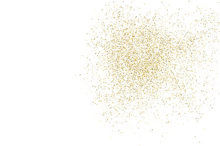 amber: Gold glitter texture isolated on white. Amber color background. Golden explosion of confetti. Vector illustration,eps 10.
