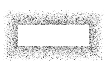 Black frame isolated on white background. Silver explosion of confetti. Flat design element. Vector illustration,eps 10. Vector Illustration