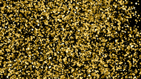 strass: Gold glitter texture isolated on black. Illustration