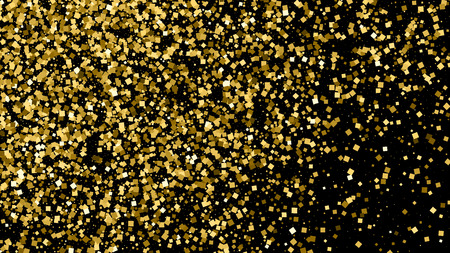 16 9: Gold glitter texture isolated on black. Celebratory background. Golden explosion of confetti. Vector illustration,eps 10. Widescreen 16 : 9.