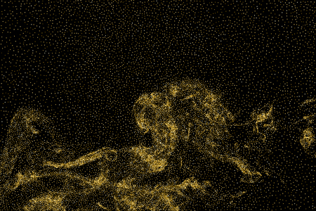 strass: Gold glitter texture isolated on black. Stock Photo