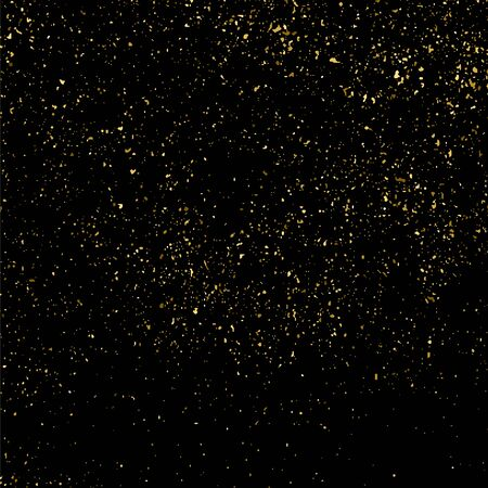 Gold glitter texture isolated on black square. Amber particles color. Celebratory background. Golden explosion of confetti. Vector illustration,eps 10.