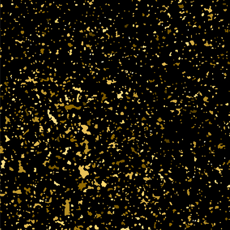 gold textured background: Gold glitter texture isolated on black square. Amber particles color. Celebratory background.