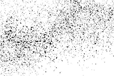 Zwarte korrelige textuur die op witte achtergrond wordt geïsoleerd. Distress overlay textured. Grunge ontwerpelementen. Stock Illustratie