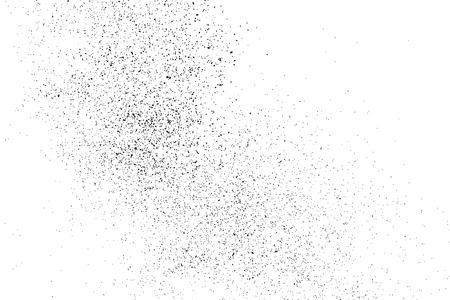 Zwarte korrelige textuur op een witte achtergrond. Distress overlay textuur. Grunge design elementen. Stock Illustratie