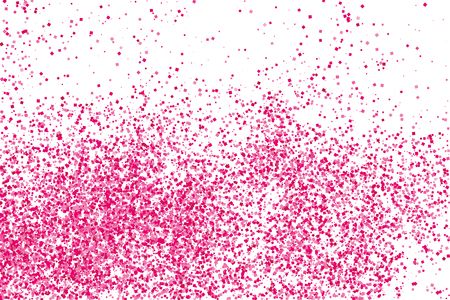 Scarlet explosion of confetti isolated on white. Valentines Day background. Pink glitter texture.  Vector illustration,eps 10. Illustration