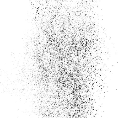Black grainy texture isolated on white background. Distress overlay textured. Grunge design elements. Vector illustration.
