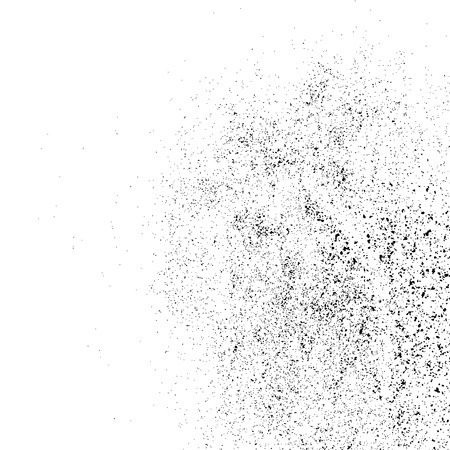 Black grainy texture isolated on white background. Distress overlay textured. Grunge design elements. Vector illustration