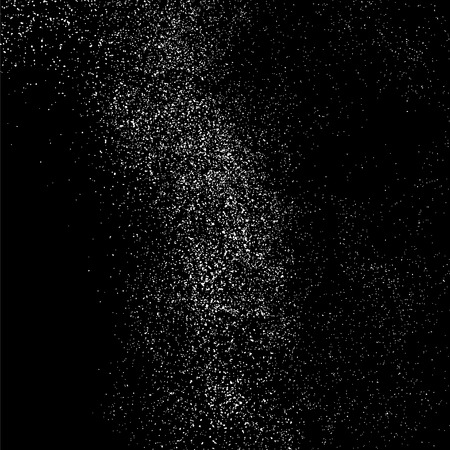 Grainy abstract  texture on  black background.  Snowflakes  design element. Distress overlay textured. Vector illustration,eps 10.
