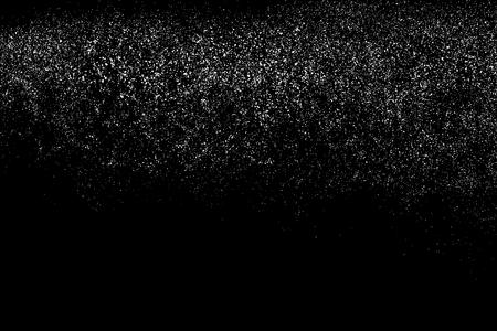 Korrel abstracte textuur die op zwarte achtergrond wordt geïsoleerd. Geluid ontwerpelement. Distress overlay textured.