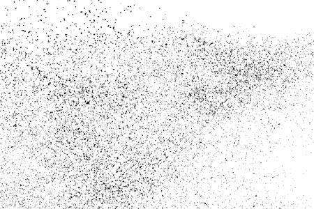 Zwarte korrelige textuur die op witte achtergrond wordt geïsoleerd. Distress overlay textured. Grunge ontwerpelementen. Vectorillustratie, eps 10.