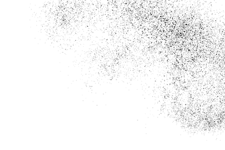 Black grainy texture isolated on white background. Distress overlay textured grunge design elements vector illustration.